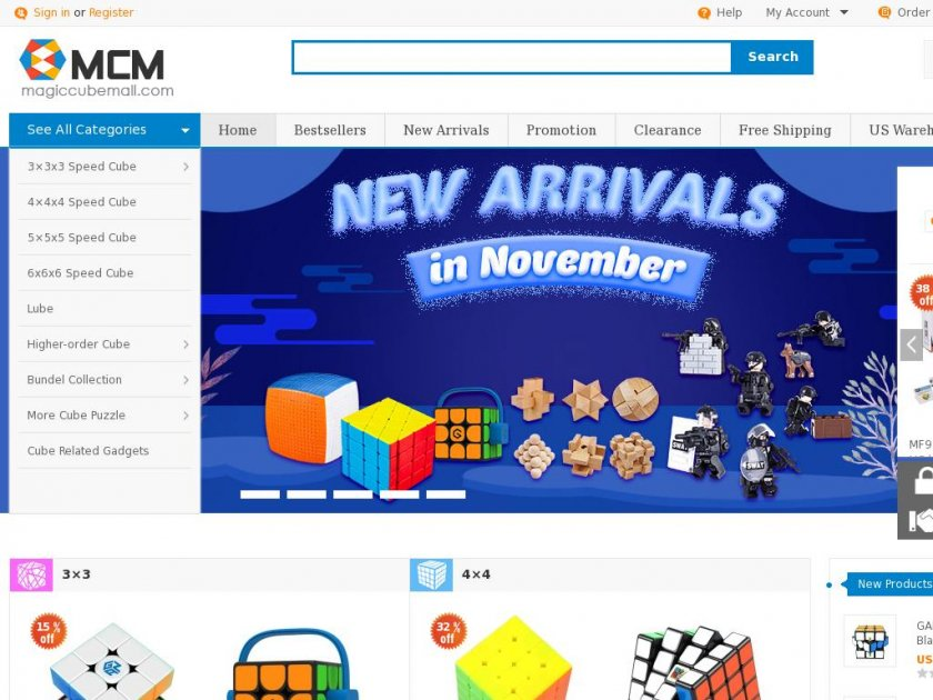 Magiccubemall.com - Professional Puzzle Store for Magic Cubes, Rubik's Cubes, Magic Cube Accessories & Other Puzzles
