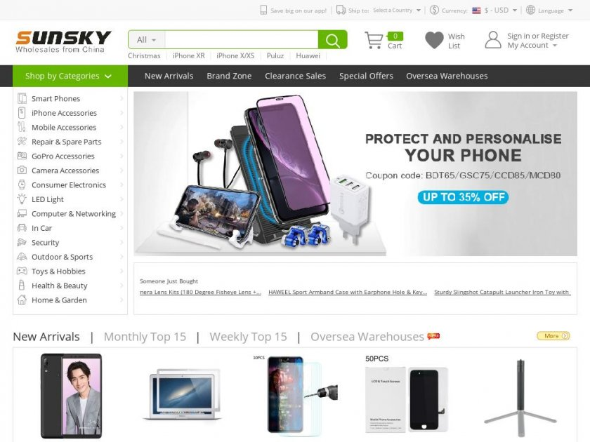Sunsky - China Electronics Wholesale and Dropship