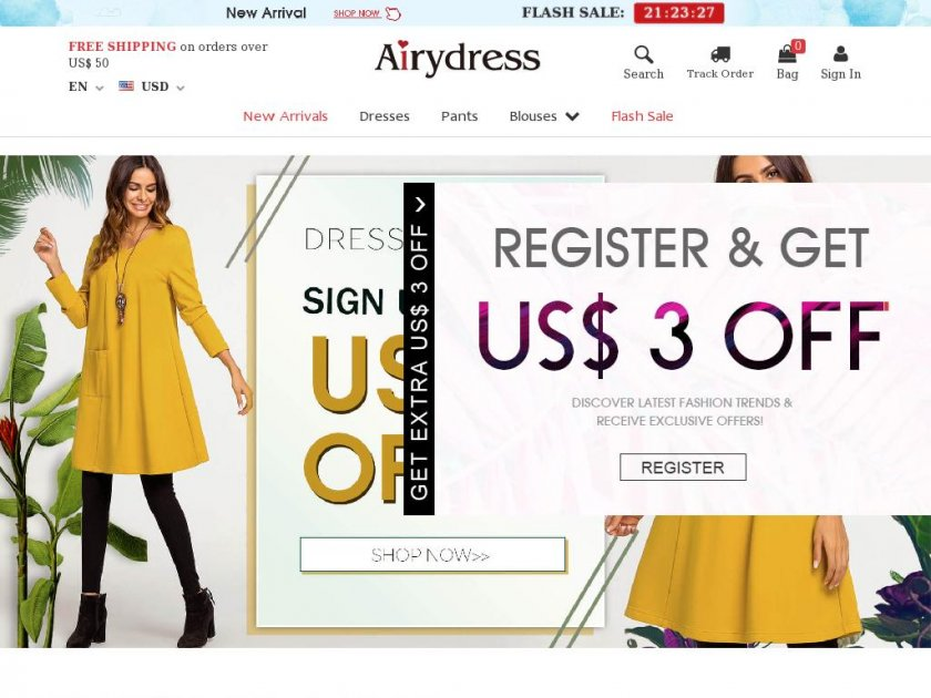 Airydress - Cheap Women's Fashion Hot Sale Online